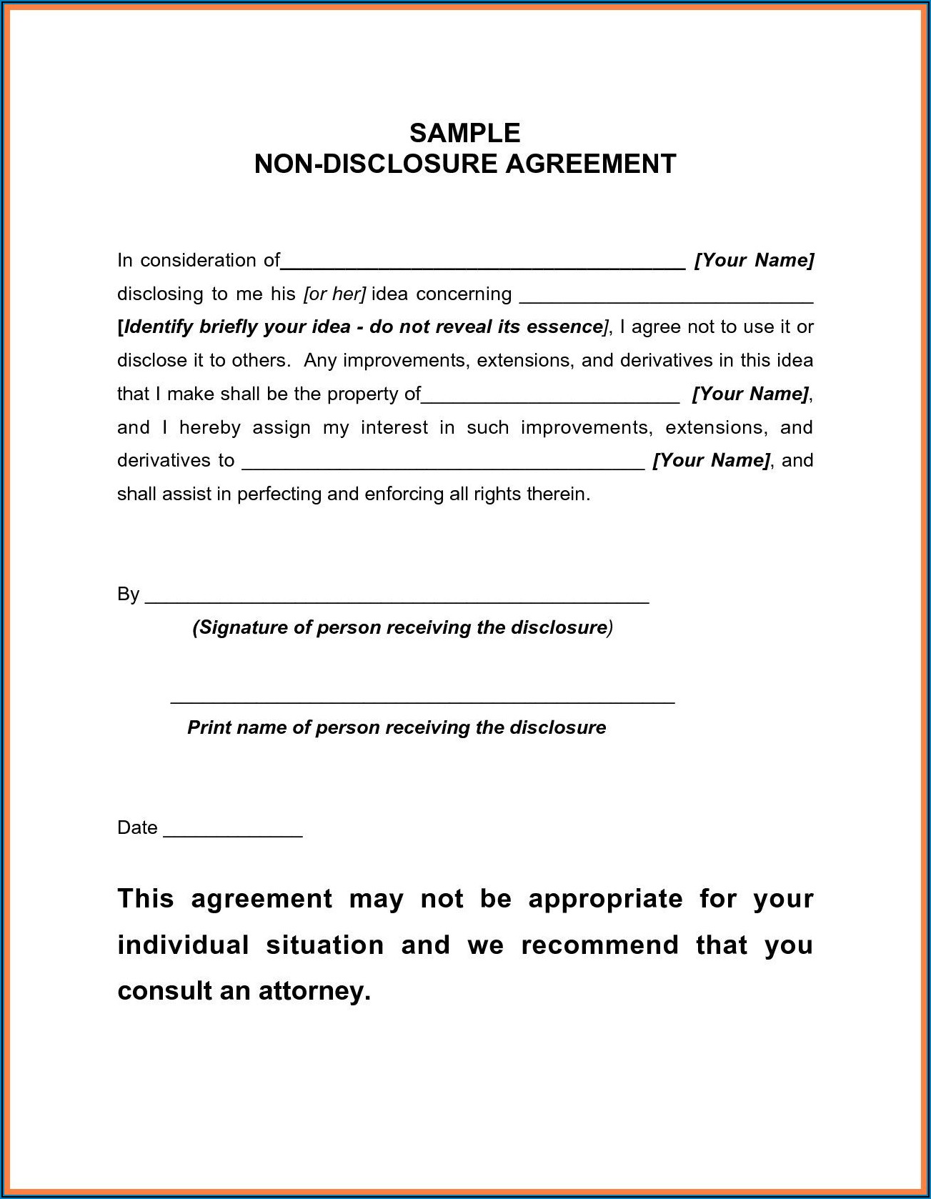 Franchise Disclosure Document Template South Africa