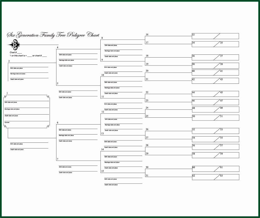 Free Ancestry Chart Templates