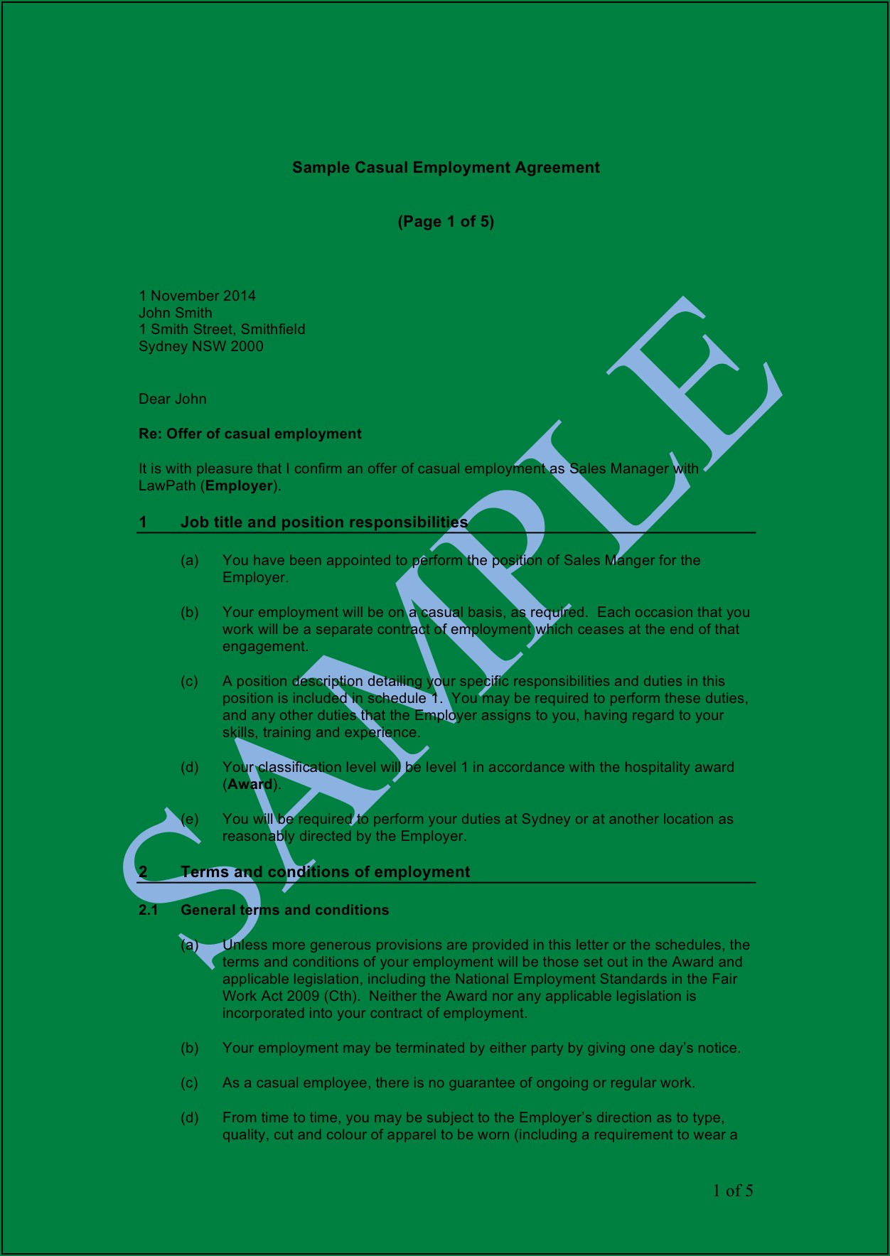 Free Consulting Agreement Template Australia