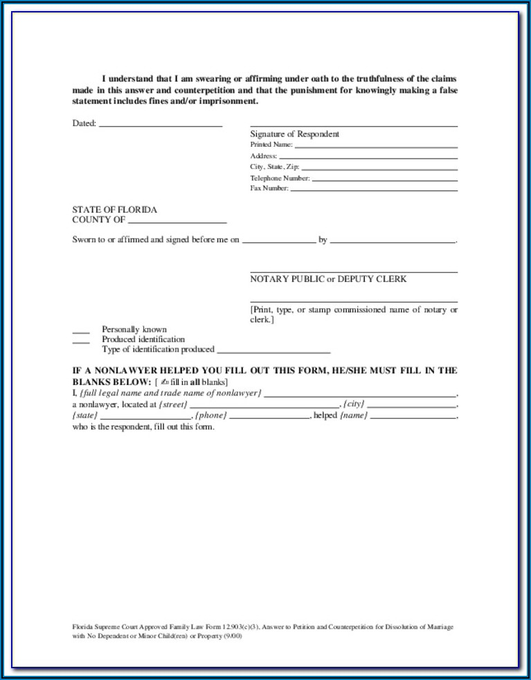 Free Dissolution Of Marriage Forms Ohio