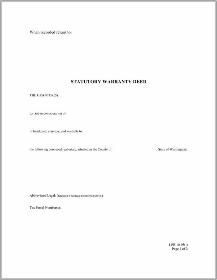 Free Download Warranty Deed Form