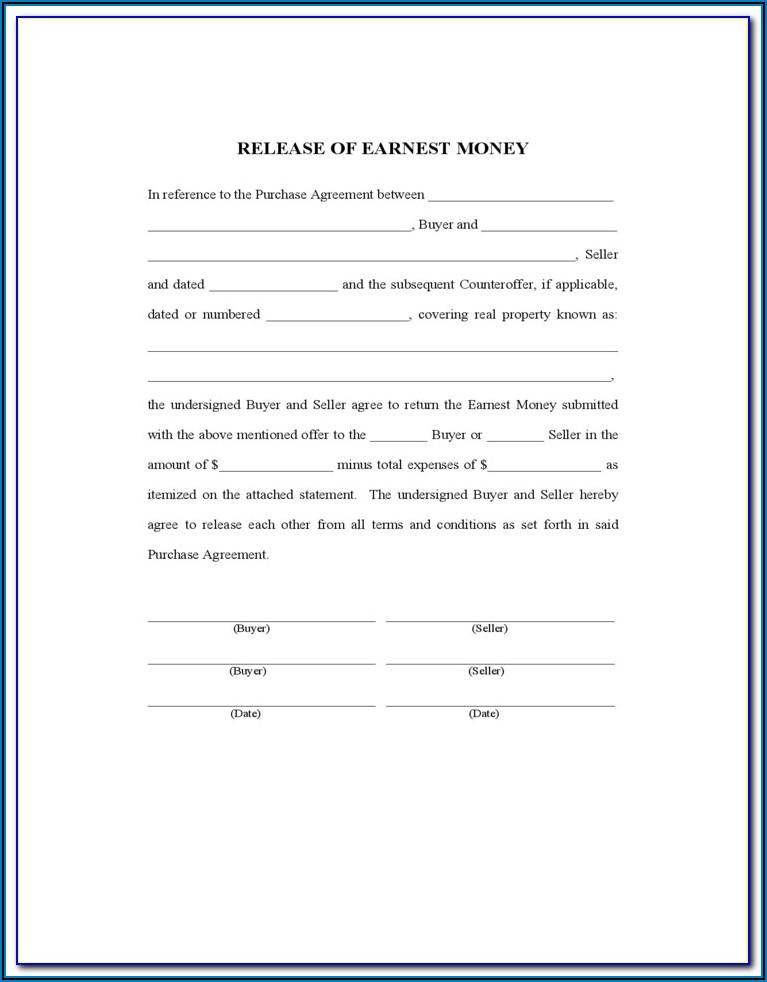 Free Earnest Money Agreement Form