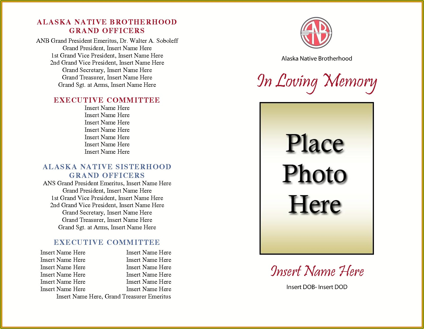 Free Funeral Card Templates