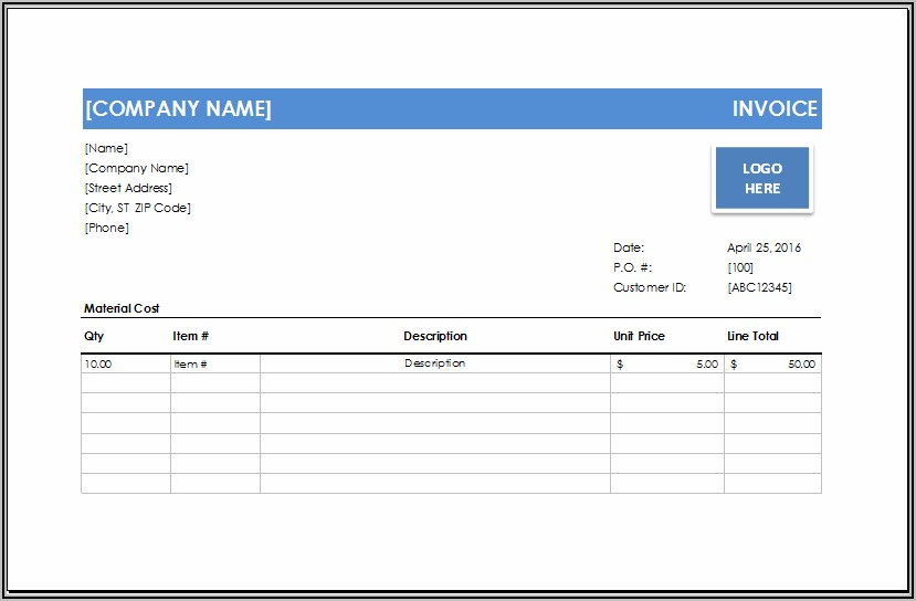 Free Handyman Invoice Forms