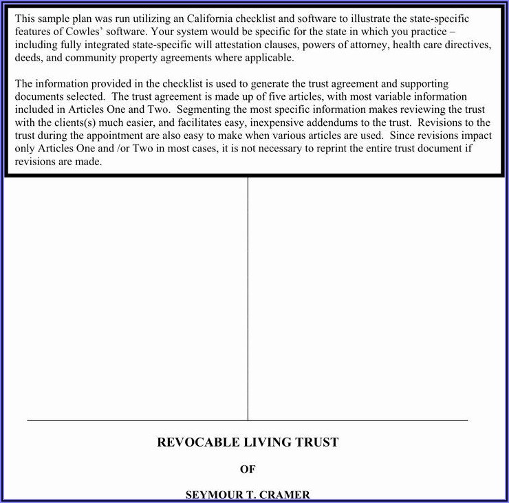 Free Irrevocable Living Trust Form