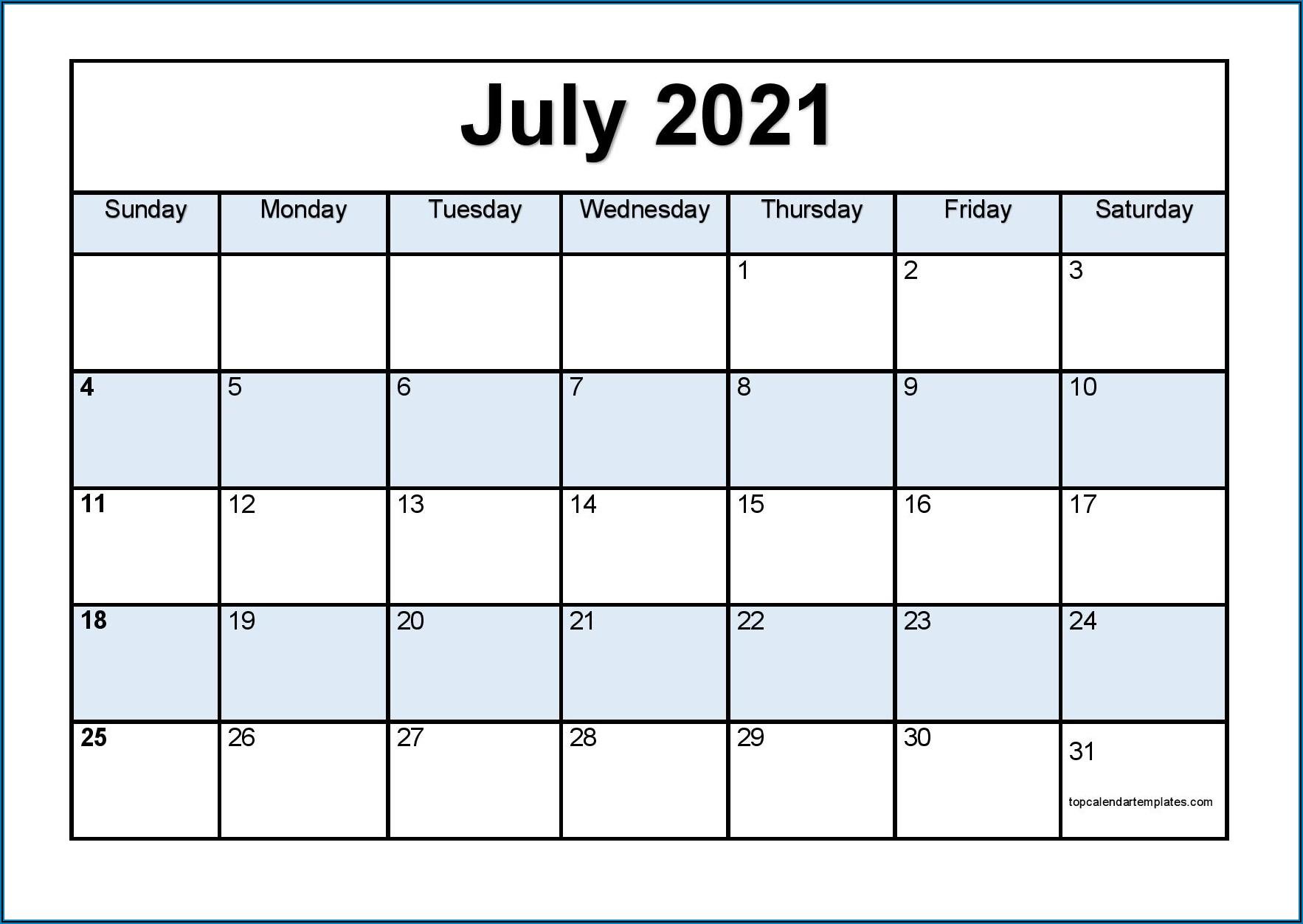 Free Large Print Calendar Templates