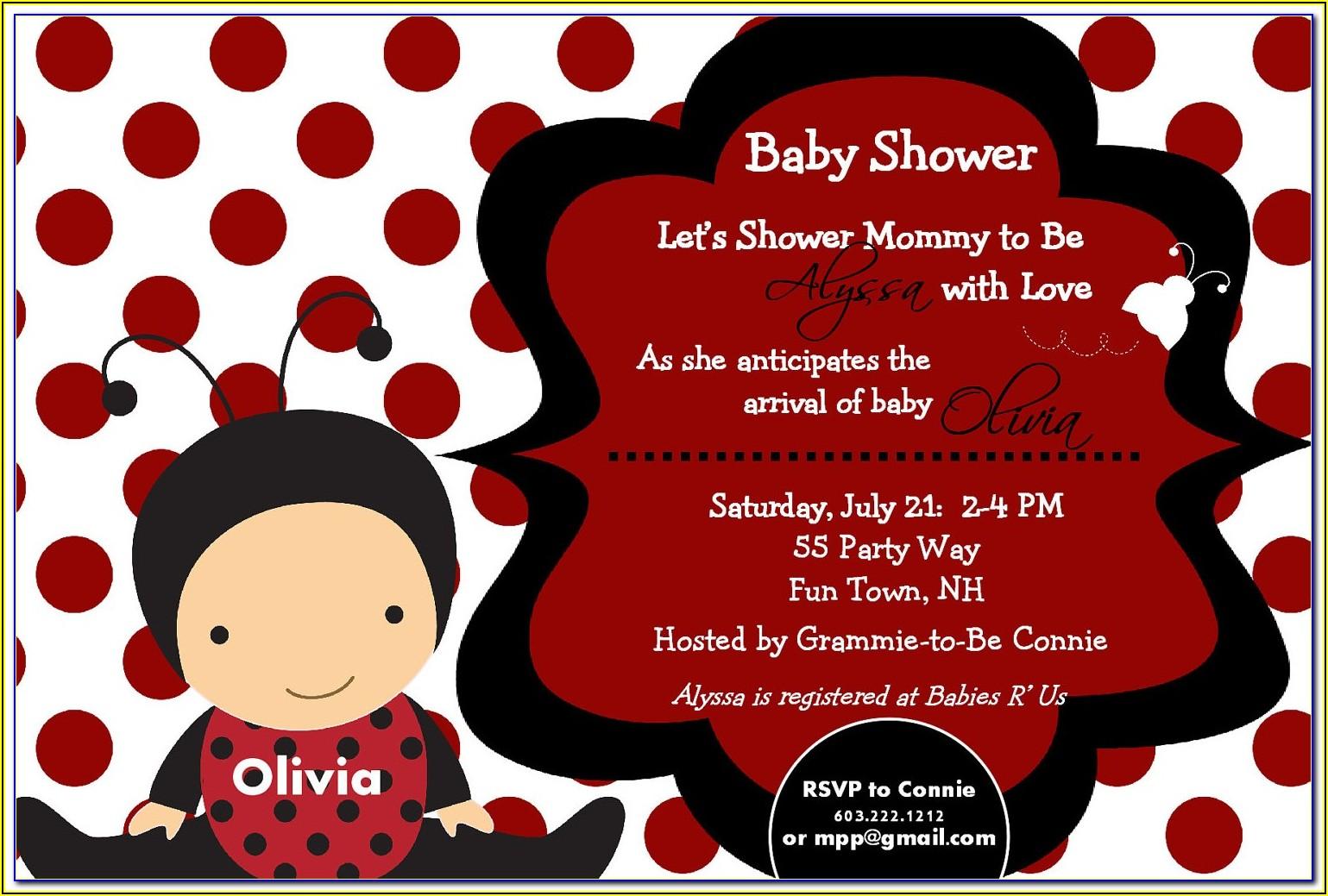 Free Onesie Baby Shower Invitation Template