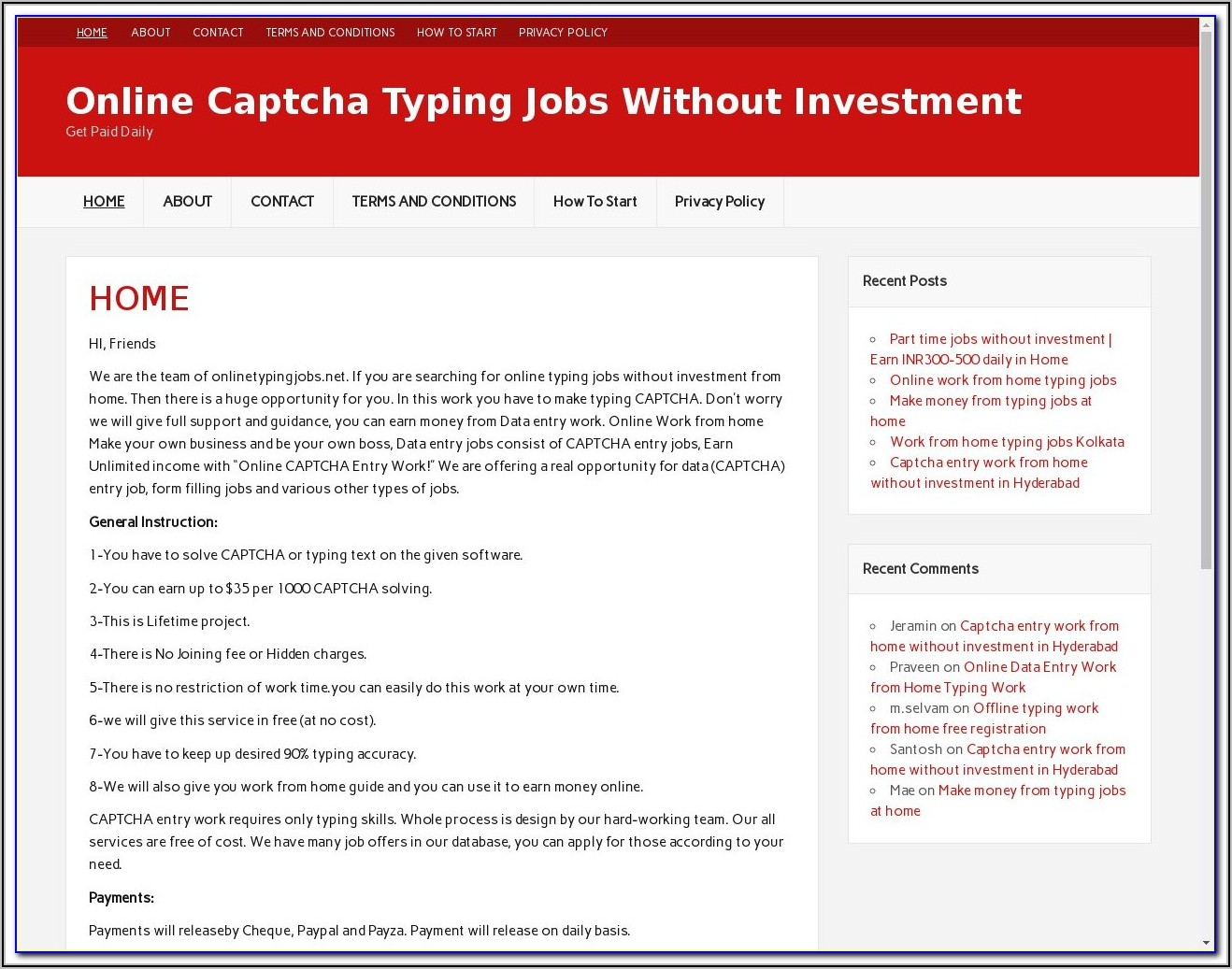 Free Online Form Filling Jobs Without Registration Fees In Pakistan