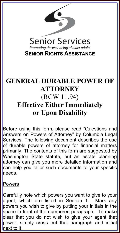 Free Printable Power Of Attorney Forms Ontario