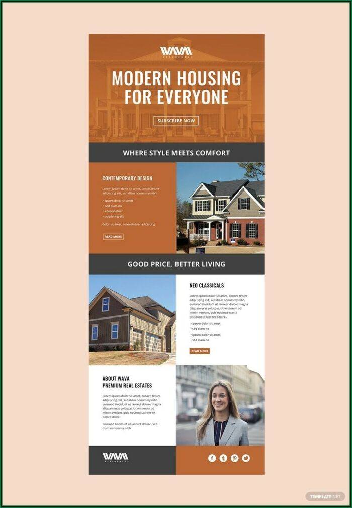 Free Printable Real Estate Newsletter Templates