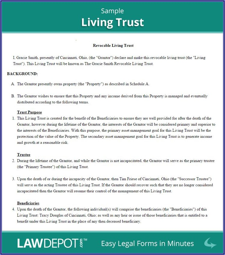 Free Revocable Trust Document