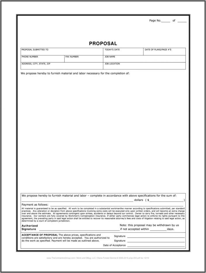 Free Sample Bid Proposal Template
