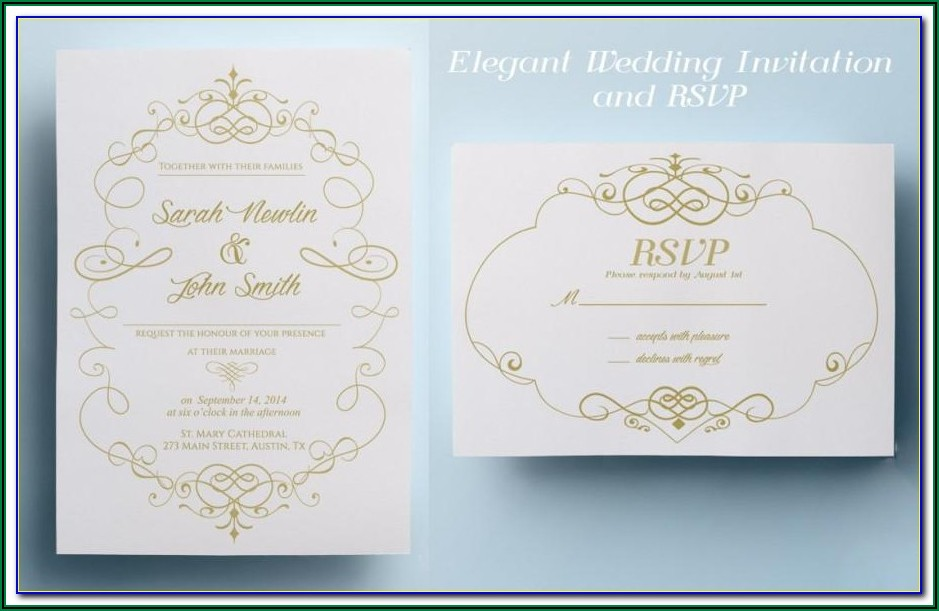 Free Tri Fold Wedding Invitation Templates Download