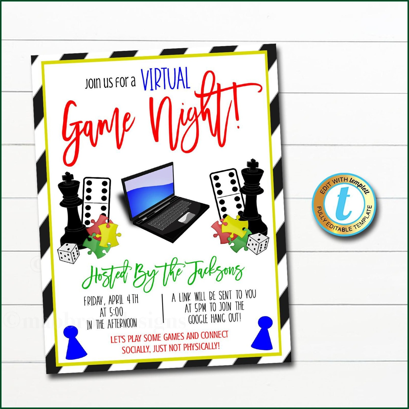 Game Night Invitation Template Online