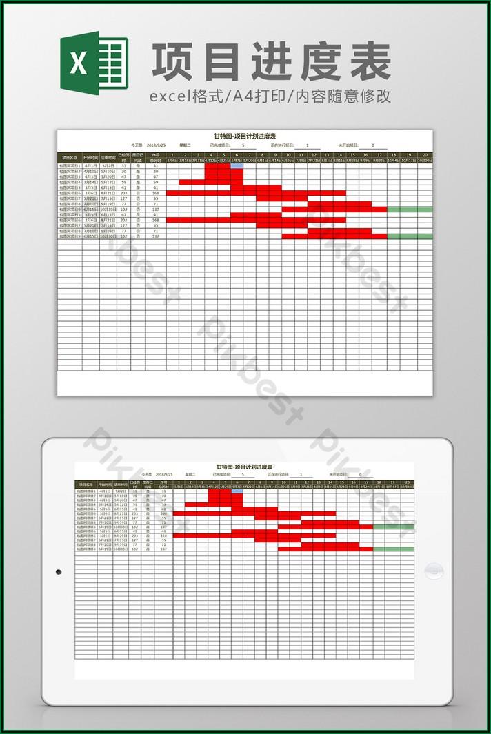 Gantt Chart Project Schedule Template