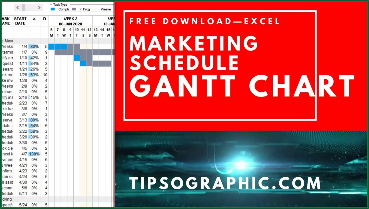 Gantt Schedule Template