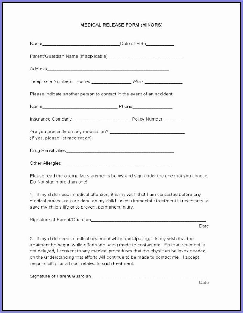 Generic Hipaa Release Form