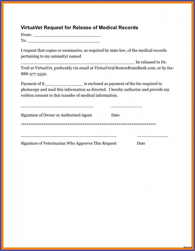 Generic Medical Waiver Form
