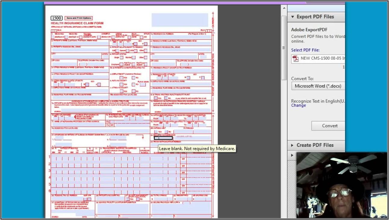 Health Insurance Claim Form 1500 Pdf