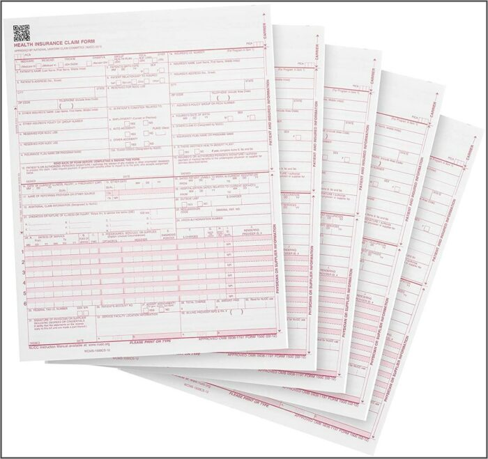 Health Insurance Claim Form 1500 Place Of Service Codes