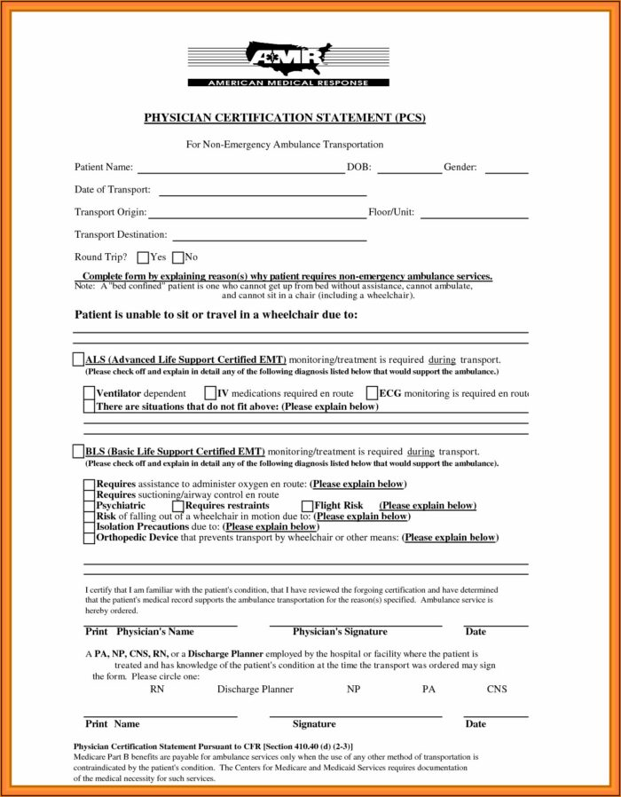 Hospital Discharge Forms Download