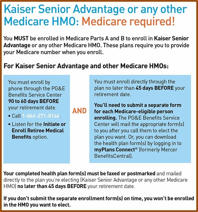 Kaiser Medicare Disenrollment Form