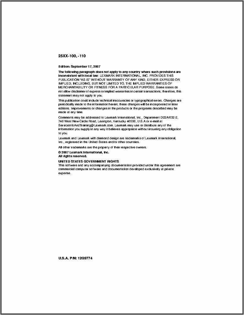 Lexmark Forms Printer 2500 Series Manual