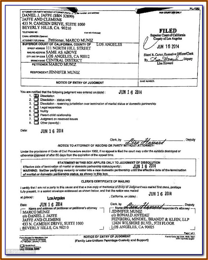 Los Angeles Superior Court Divorce Forms