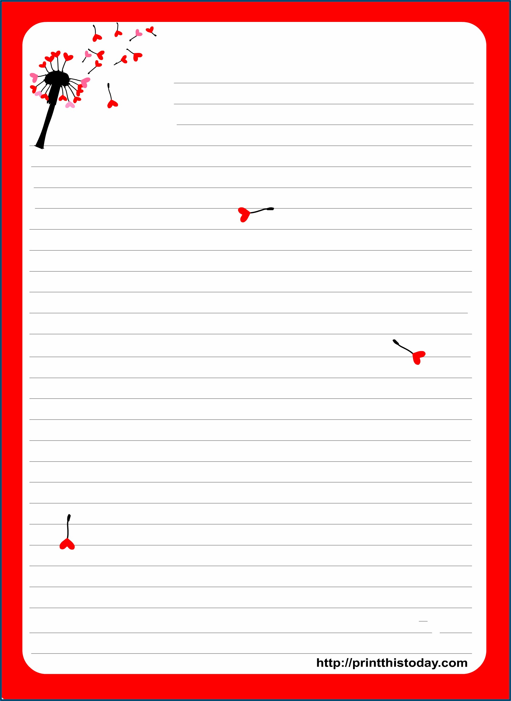 Love Letter Stationery Printable