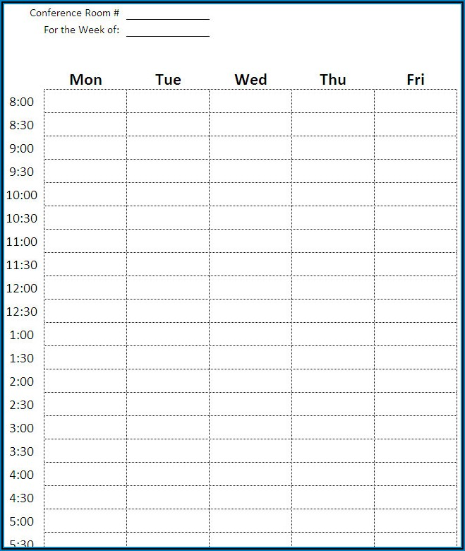 Meeting Room Booking Form Template Excel