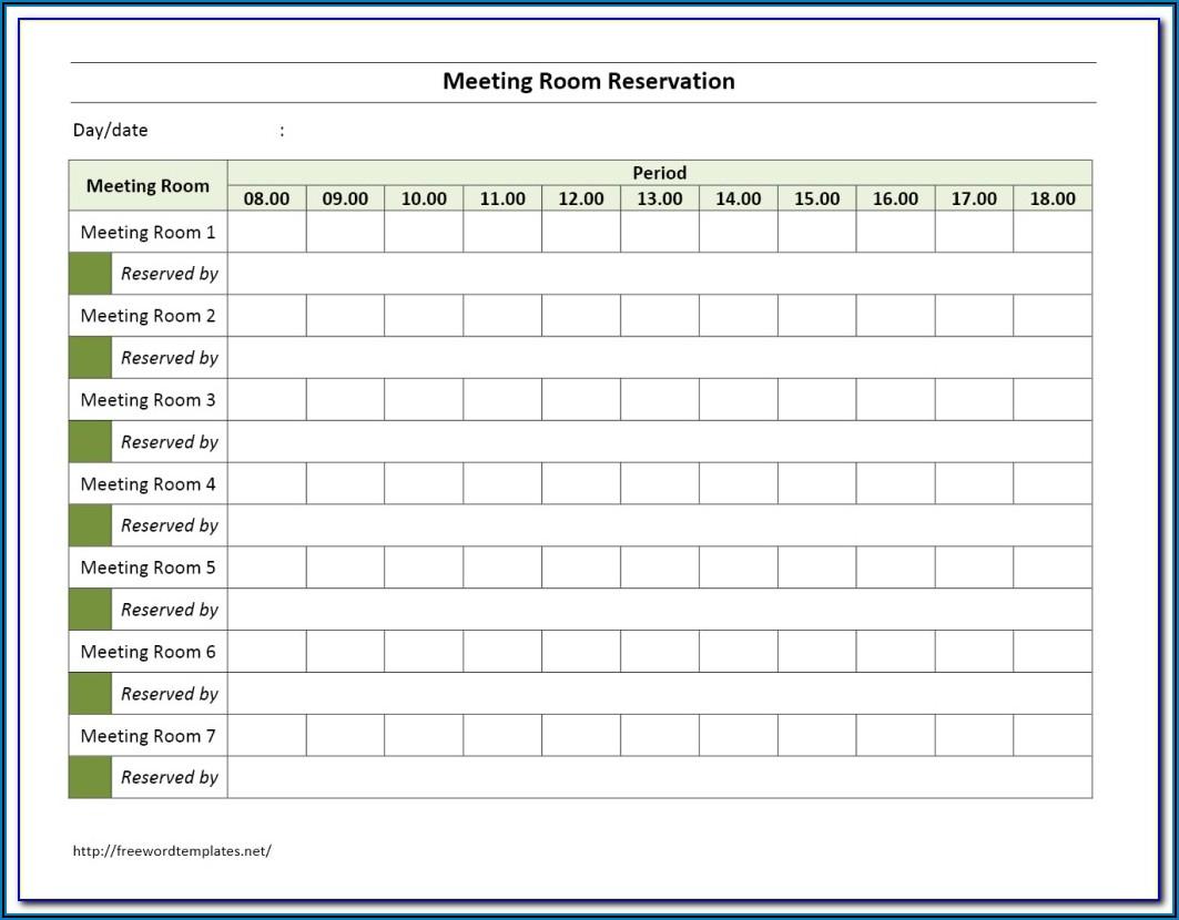 Meeting Room Booking Format