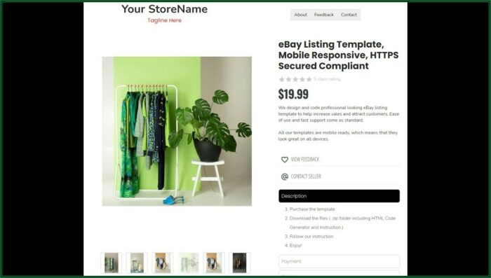 Mobile Responsive Ebay Listing Template