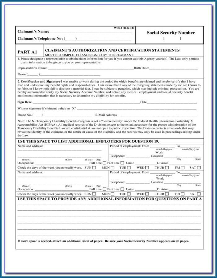 Nj Permanent Disability Forms