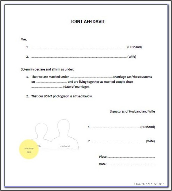 Notarial Certificate Form