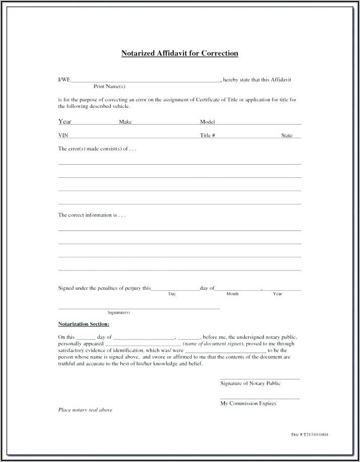 Notary Certificate Form Washington State