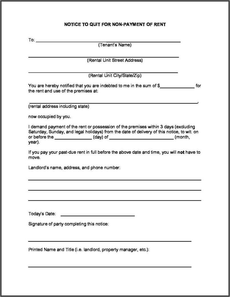 Ohio 3 Day Eviction Notice Form