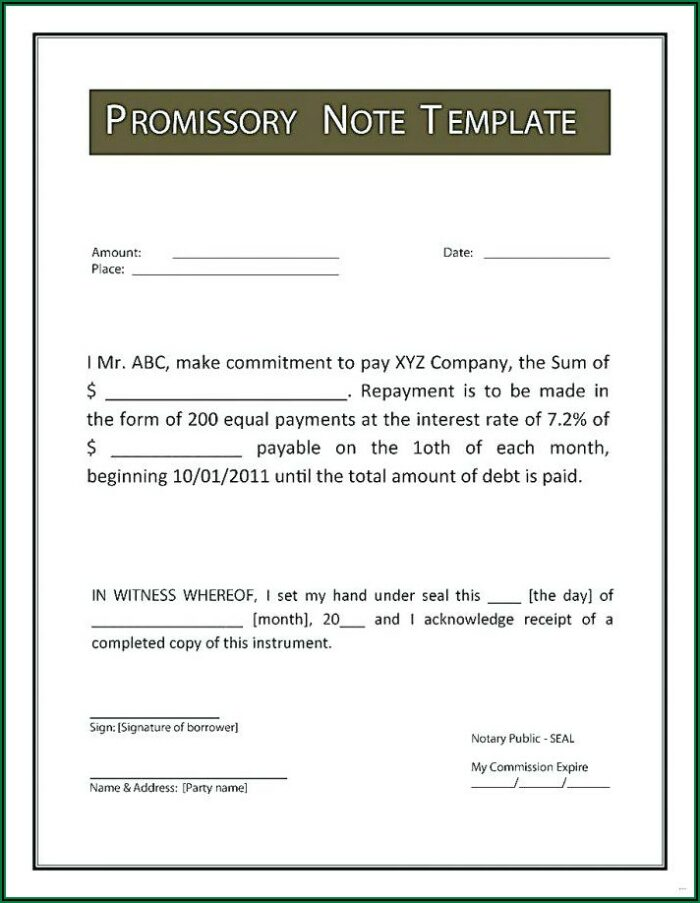 On Demand Promissory Note Format In Kannada