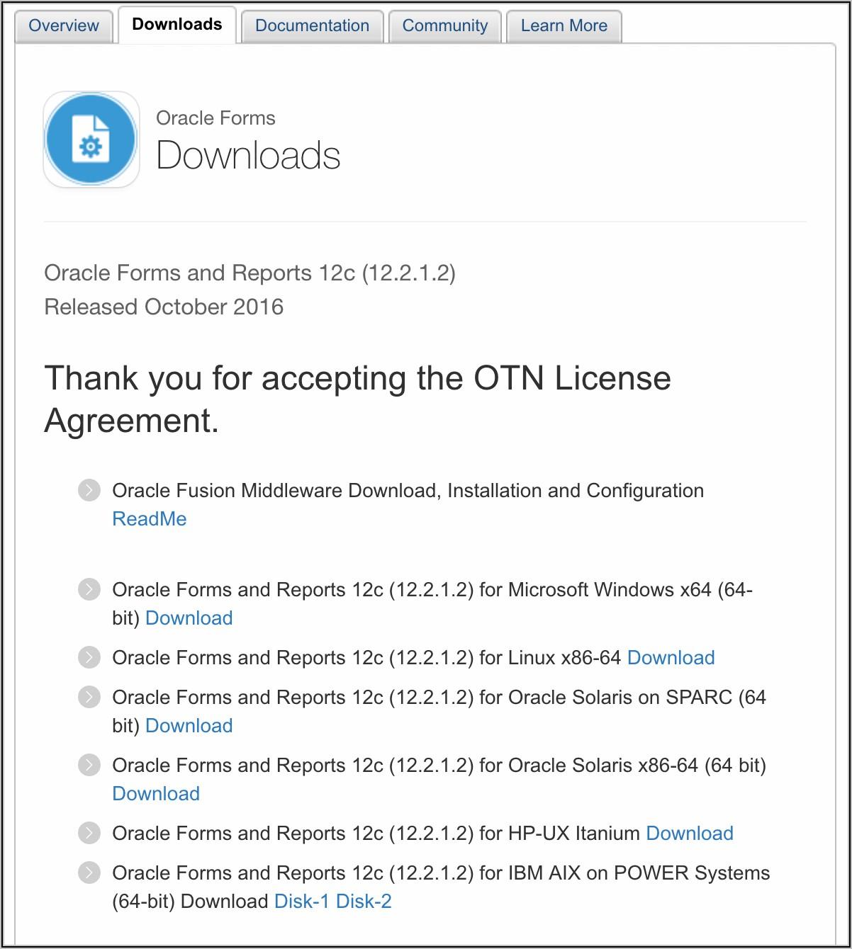 Oracle Forms Certification Matrix 12c