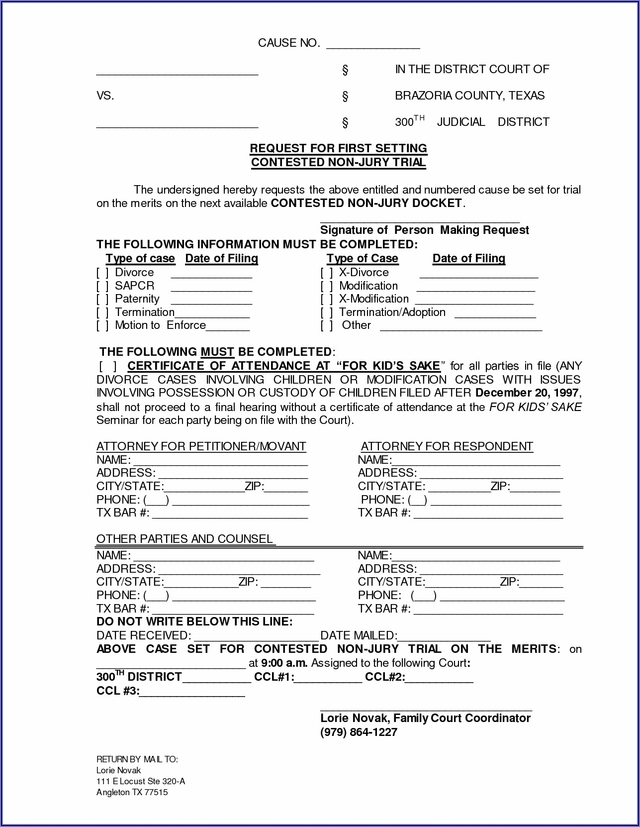Paperwork Needed To File For Divorce In Texas