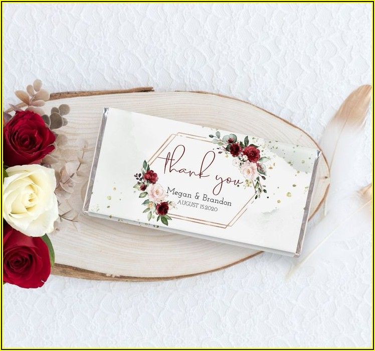 Personalized Chocolate Wrappers Template