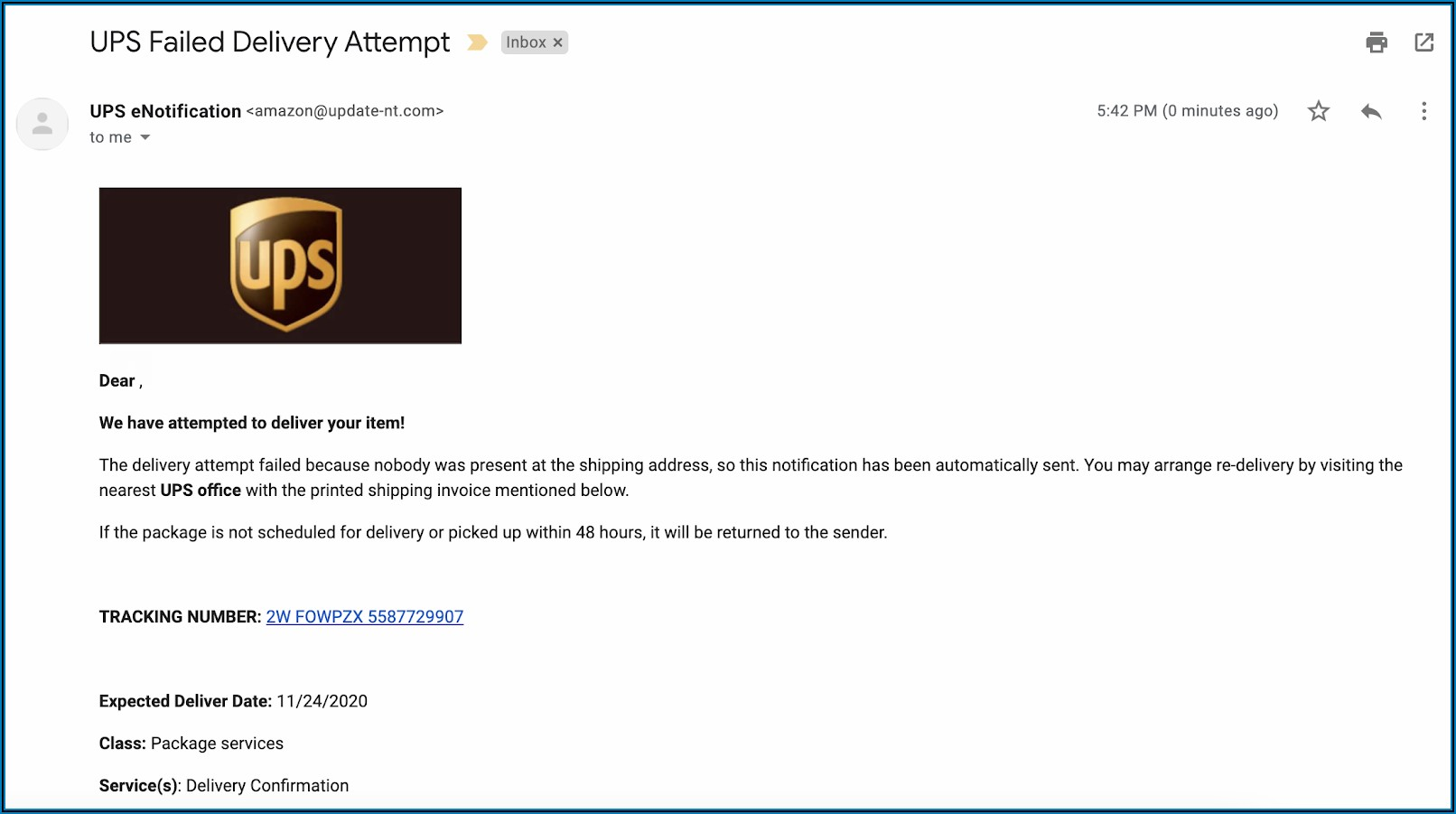 Phishing Test Email Templates