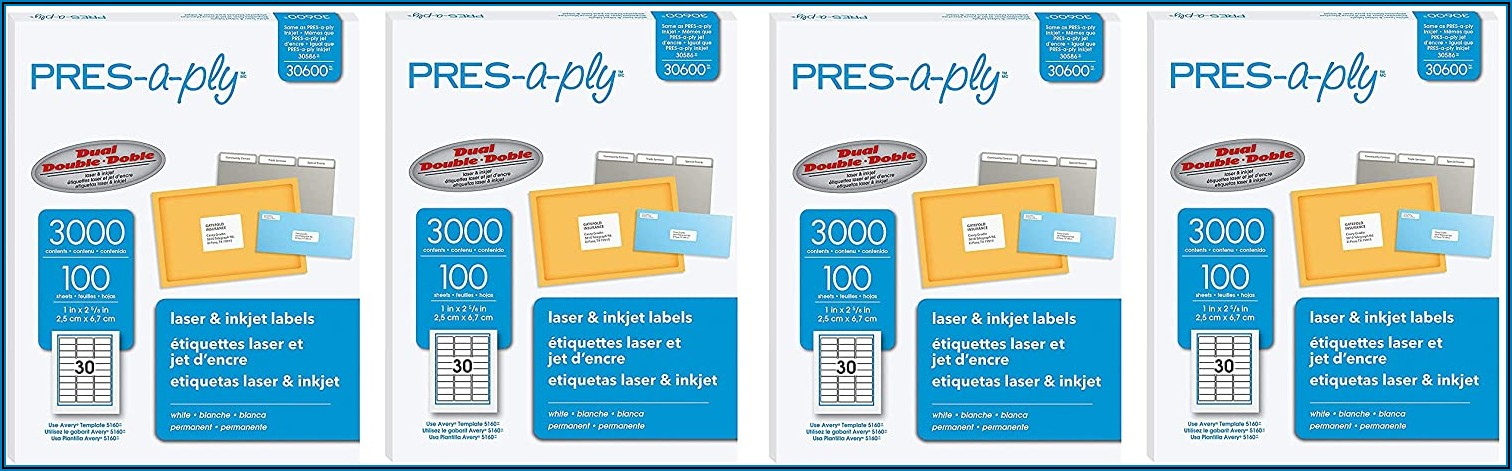 Pres A Ply 30400 Label Template