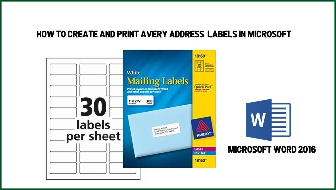 Printing Address Labels Template