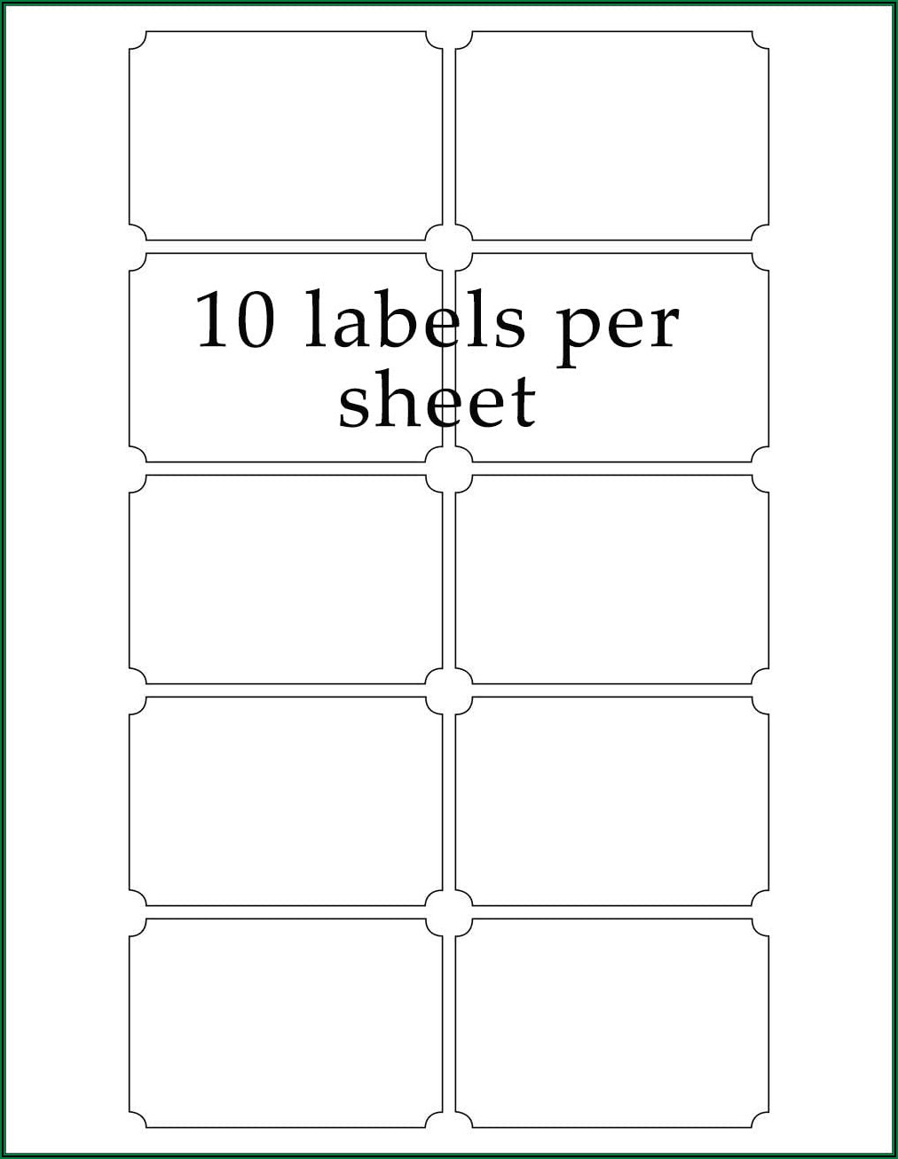 Printing Sticky Labels Template