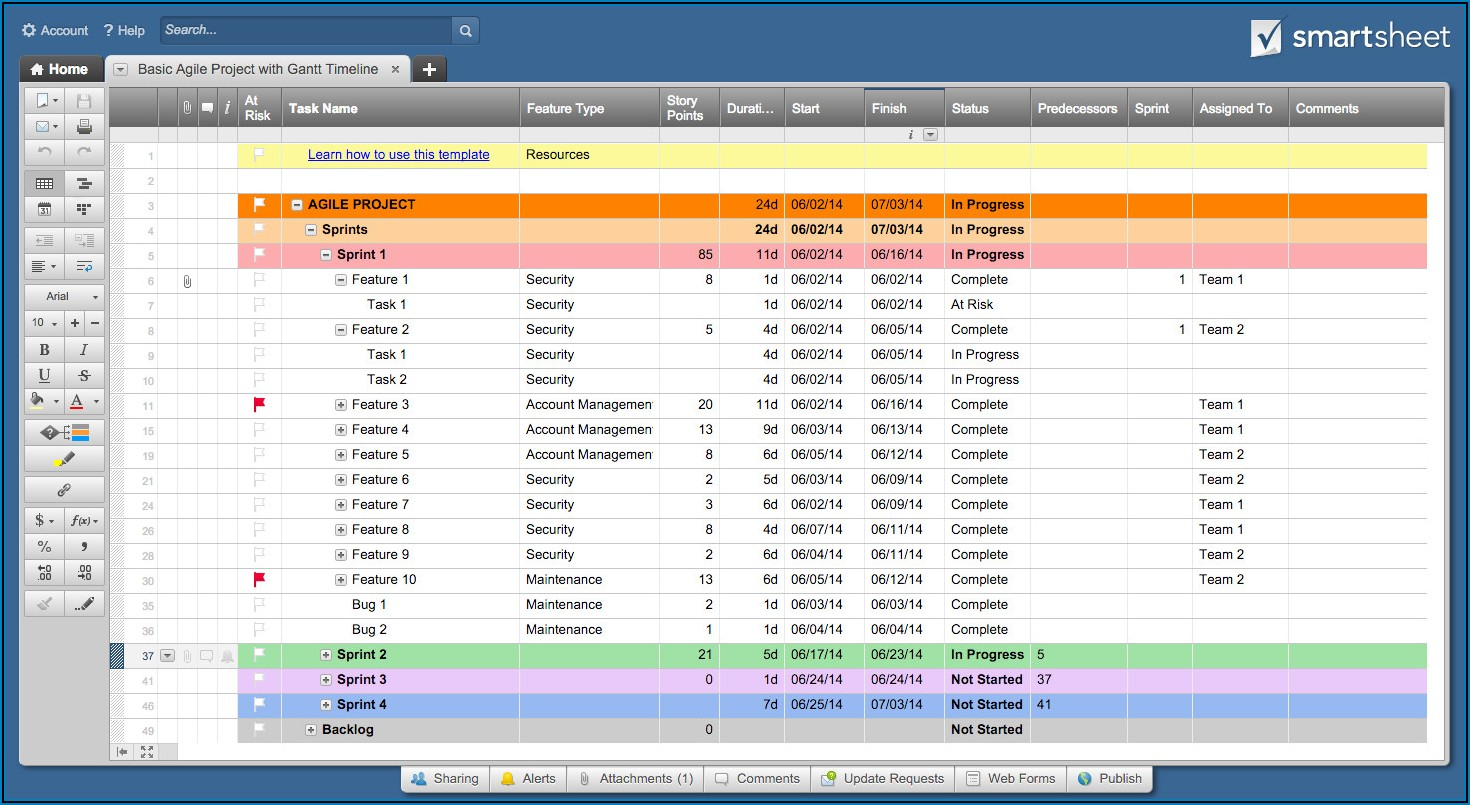 Project Management Google Sheets Template
