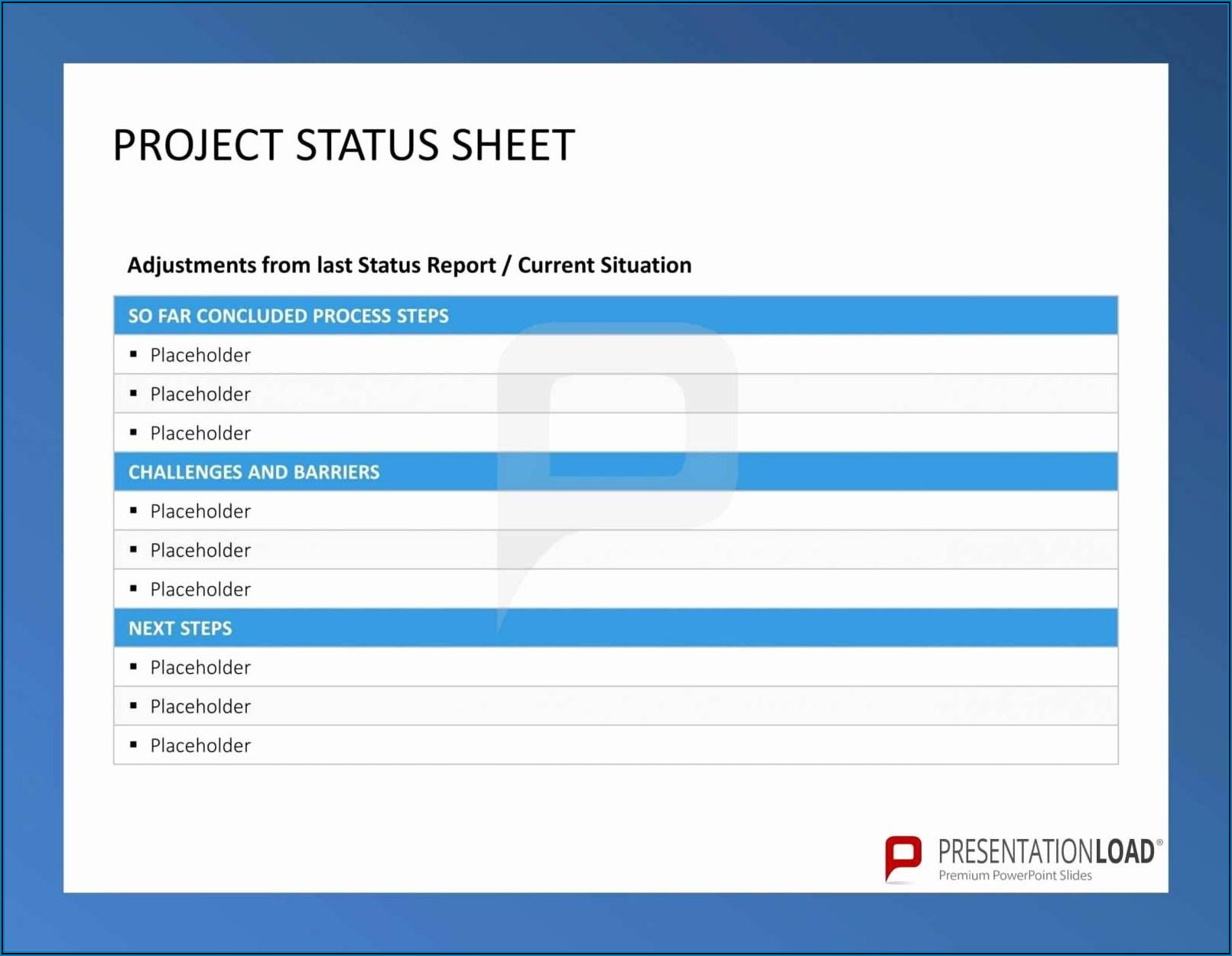 Project Progress Report Sample Excel