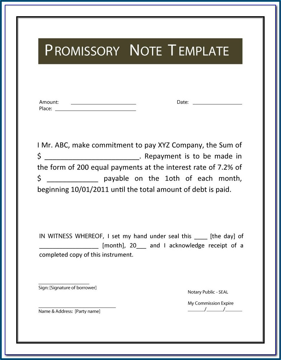 Promissory Note Legal Forms Philippines