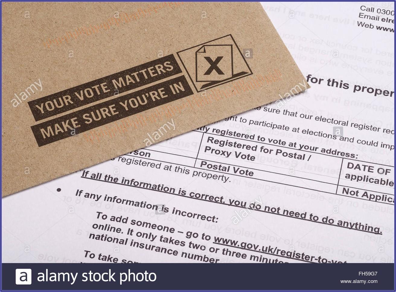 Proxy Vote Application Form Online