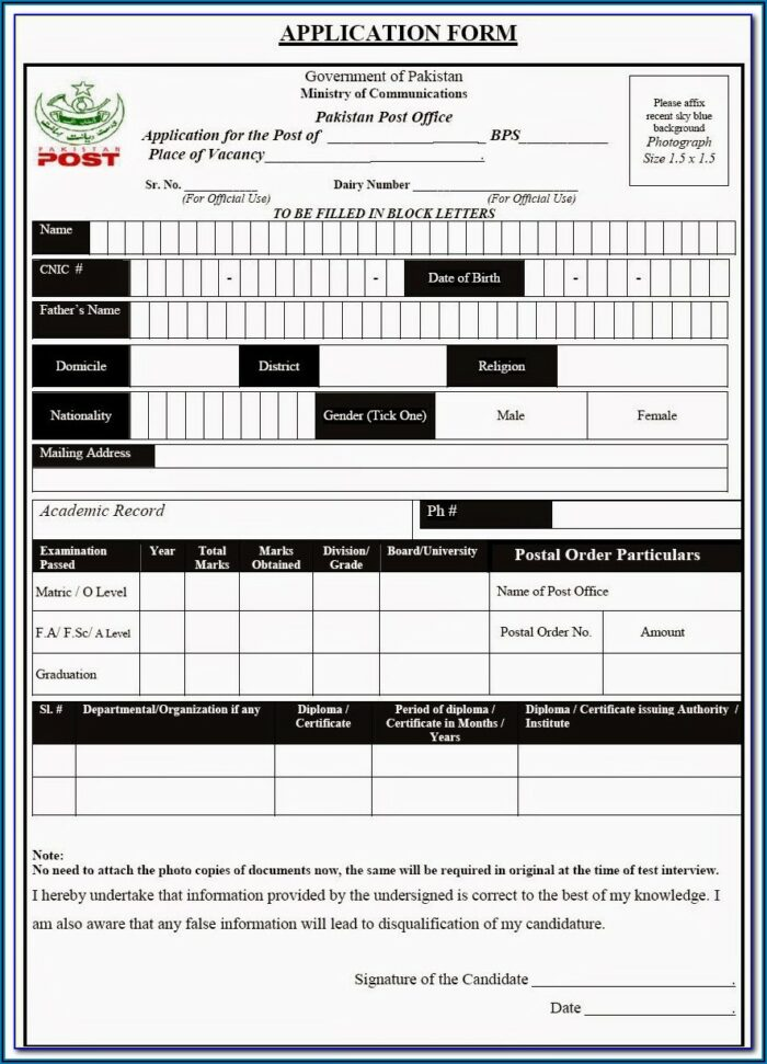 Qatar Visa Application Form Pakistan