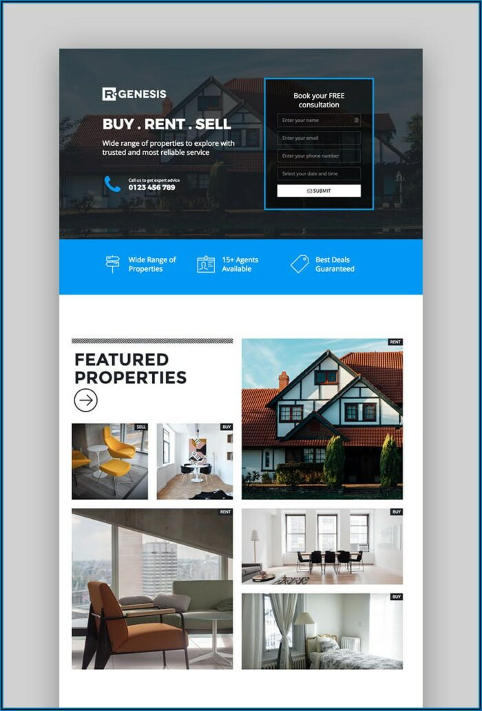 Real Estate Squeeze Page Templates Free